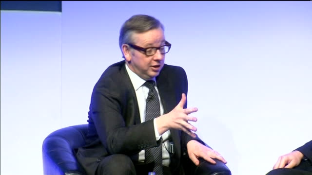 michael gove gets a rough ride at the naht conference england west midlands birmingham int michael gove mp arriving on stage for qa session at naht... - things that go together stock videos & royalty-free footage