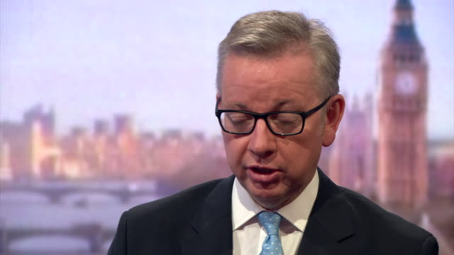 michael gove giving his reasons for withdrawing his backing of boris johnson for prime minister - representing stock videos & royalty-free footage