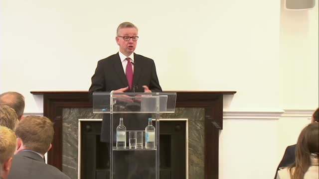 michael gove has set out his vision for the country today after his surprise bid to become the next conservative leader and prime minister the... - gebot stock-videos und b-roll-filmmaterial