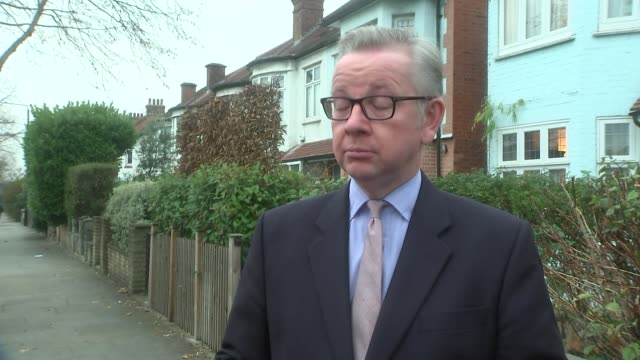 London EXT Michael Gove MP interview SOT re Richmond Park byelection Zac Goldsmith Heathrow