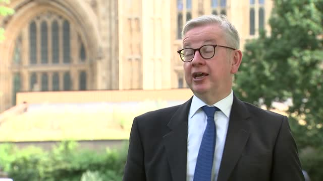 michael gove interview; england: london: westminster: ext michael gove mp interview sot. q: on postponement of june 21st - nature of variant that... - passion stock videos & royalty-free footage