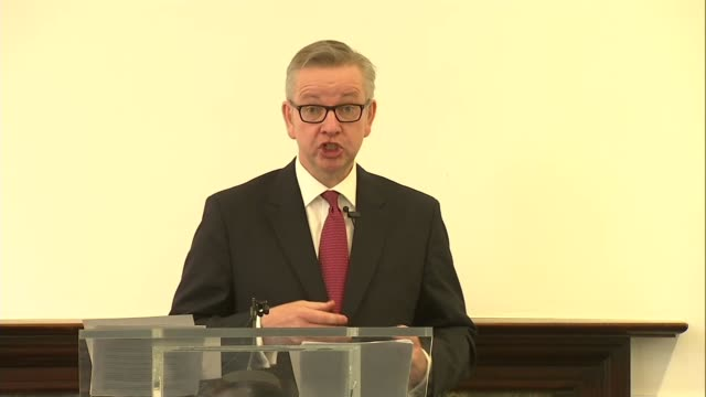 Michael Gove launches Conservative Leadership bid Michael Gove MP speech SOT I will end free movement introduce an Austalianstyle pointsbased system...
