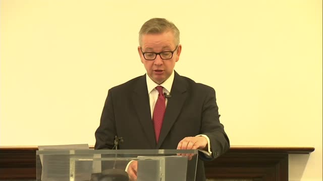 michael gove launches conservative leadership bid michael gove mp speech sot we need to change the incentives in many of our public services so... - gebot stock-videos und b-roll-filmmaterial