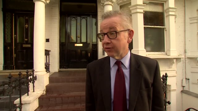 michael gove mp doorstep interview about the brexit deal says the backstop will have to change and the pm will negotiate to get the best deal for... - 2016 european union referendum stock videos & royalty-free footage