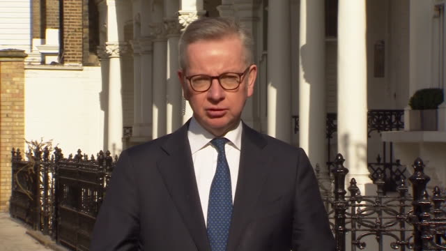 michael gove saying people must be prepared for a significant period under coronavirus measures - long stock videos & royalty-free footage