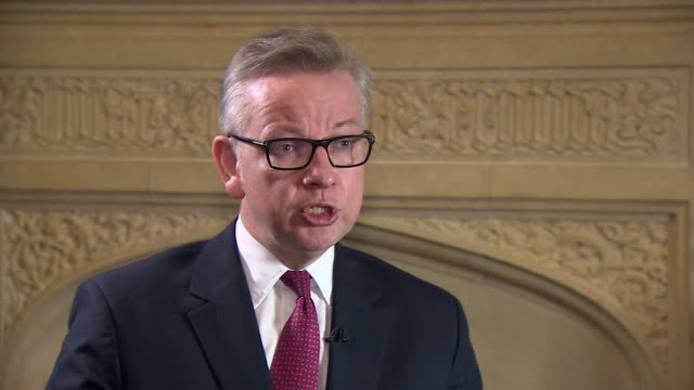 michael gove saying that he has always done what i believe to be right even if it as it the cost of friendships or personal relationships - michael gove stock-videos und b-roll-filmmaterial