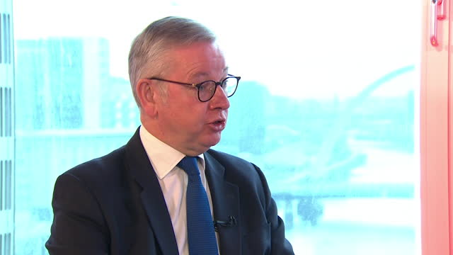 michael gove saying the focus for all uk political parties should be recovery from covid and not scottish independence - focus concept stock videos & royalty-free footage
