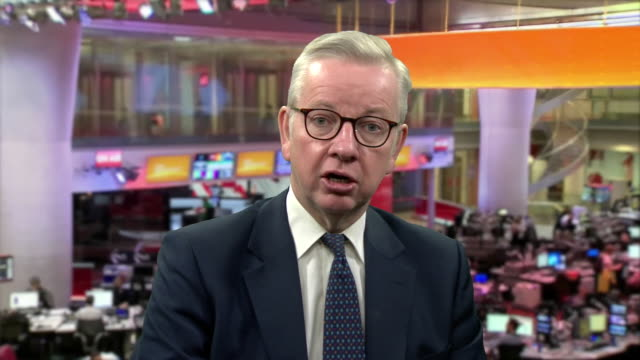 """michael gove saying the government will do """"everything it can"""" to support athletes and sports clubs through the coronavirus crisis - state of emergency stock videos & royalty-free footage"""