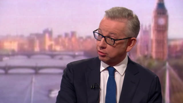 michael gove saying there is a real risk of the conservative party losing a general election before brexit is delivered - general election stock videos & royalty-free footage