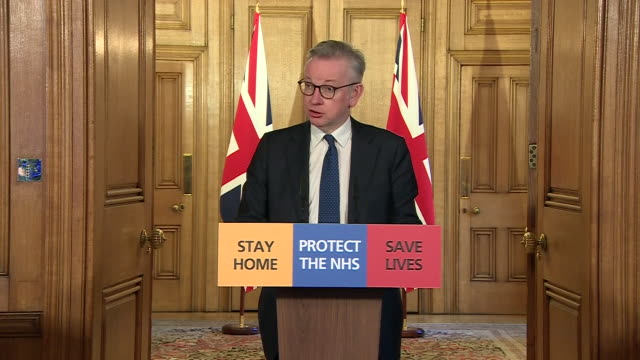 """michael gove saying """"this virus does not discriminate"""" after boris johnson was diagosed with coronavirus - positive emotion stock videos & royalty-free footage"""
