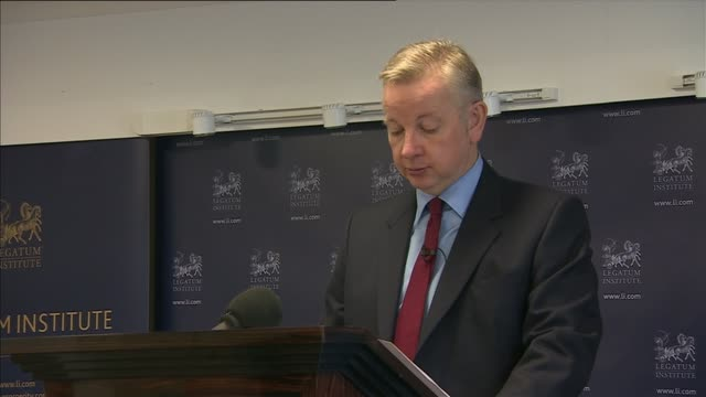 Michael Gove says justice system failing crime victims Speech ENGLAND London INT Michael Gove MP speech SOT I would like to begin by thanking The...