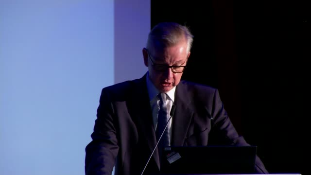 Michael Gove speech to launch UK Climate Change Projections 2018 ENGLAND London South Kensington The Science Museum INT Michael Gove MP speech SOT
