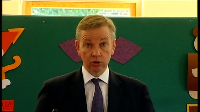 michael gove speech to the durand academy; gove speech sot - but if young people are to benefit from the sort of programmes skillforce offers, if... - 14 15 years stock videos & royalty-free footage