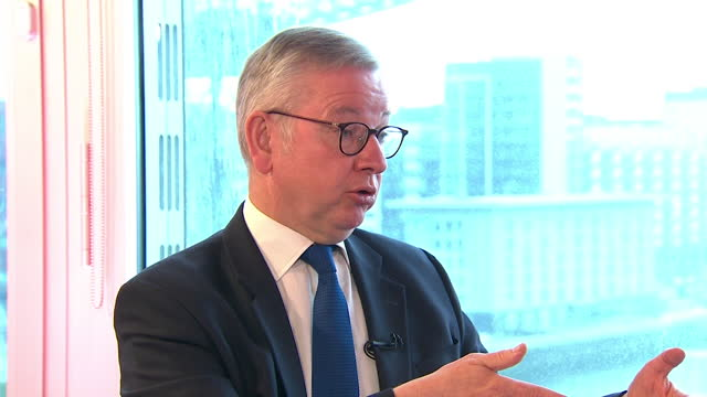 "michael gove talking about the government's ""levelling up"" proposals - talking politics stock videos & royalty-free footage"