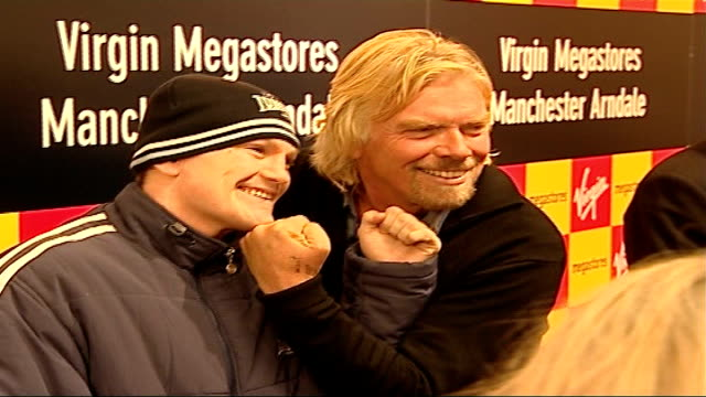 Michael Grade switches from BBC to become ITV Executive Chairman TX Arndale Centre PHOTOGRAPHY ** Sir Richard Branson posing for photocall with Ricky...