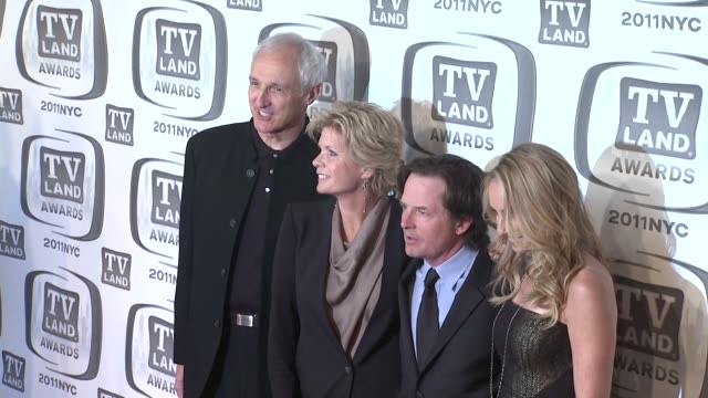 michael gross meredith baxter michael j fox and tracy pollan at the 9th annual tv land awards arrivals at new york ny - michael j. fox stock videos and b-roll footage