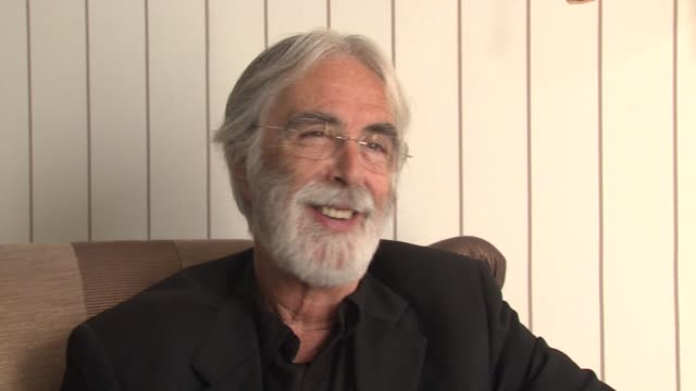 michael haneke on being excited if the film were nominated for an academy award at the cannes film festival 2009 white ribbon interview at cannes - award ribbon stock videos and b-roll footage