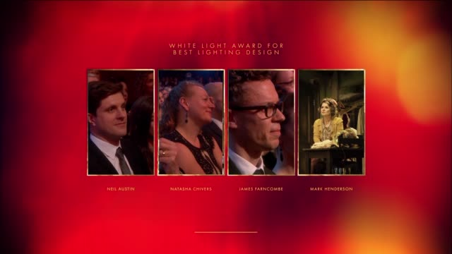 Michael Harrison Mark Henderson Best Lighting Design Gypse at The Olivier Awards with MasterCard at The Royal Opera House on April 04 2016 in London...