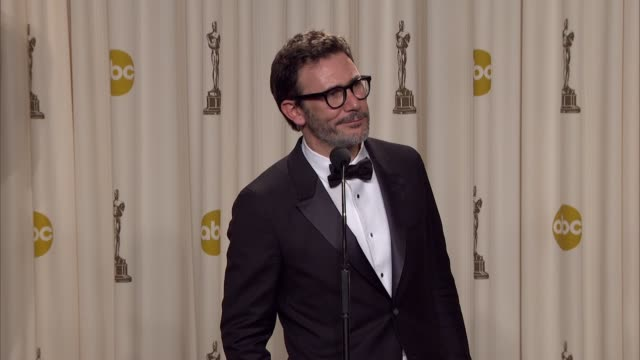 Michael Hazanavicius on winning at 84th Annual Academy Awards Press Room on 2/26/12 in Hollywood CA