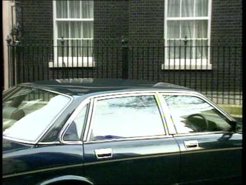 Michael Heseltine refuses to sign immunity documents ENGLAND London Westminister LMS Michael Heseltine MP and Sir Patrick Mayhew out of 10 Downing St...