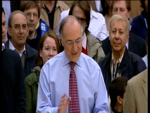 michael howard announces his resignation as conservative party leader following general election defeat 6 may 05 - neckwear stock videos and b-roll footage