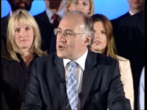 michael howard denounces uk independence party itn conservative party leader michael howard mp shaking hands with voters as on campaign trail slow... - european union stock videos and b-roll footage