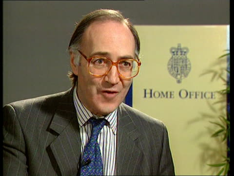 michael howard has announced plans to crack down on combat knife sales itn london cms michael howard mp intvwd sot talks about the new offense of... - knife weapon stock videos and b-roll footage