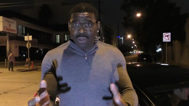 INTERVIEW Michael Irvin on how to end NFL players from taking a knee outside Craig's in West Hollywood at Celebrity Sightings in Los Angeles on...