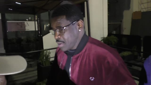 Michael Irvin outside Seth Meyers' Golden Globe Awards After Party at Poppy Nightclub in West Hollywood in Celebrity Sightings in Los Angeles