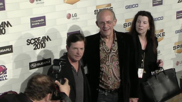 Michael J Fox and Christopher Lloyd at the Spike TV's 'Scream 2010' at Los Angeles CA