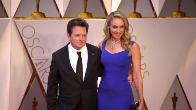 Michael J Fox and Tracy Pollan at 89th Annual Academy Awards Arrivals at Hollywood Highland Center on February 26 2017 in Hollywood California 4K