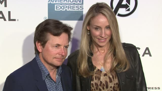 Michael J Fox and Tracy Pollan at 'Marvel's The Avengers' Premiere 2012 Tribeca Film Festival Closing Night on 4/28/2012 in New York NY United States