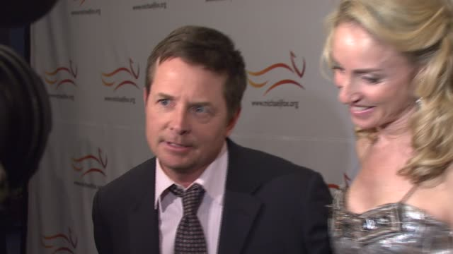 Michael J Fox and Tracy Pollan at the A Groovy Thing Happened on the Way to Cure Parkinson's event at the Sheraton Hotel and Towers in New York New...