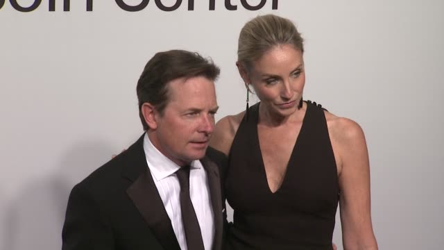 michael j fox and tracy pollan at the lincoln center presents an evening with ralph lauren hosted by oprah winfrey at new york ny - michael j. fox stock videos and b-roll footage