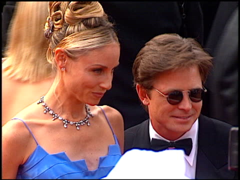 michael j fox at the 1997 emmy awards arrivals at the pasadena civic auditorium in pasadena california on september 14 1997 - pasadena civic auditorium stock videos & royalty-free footage