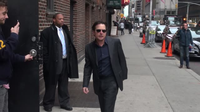michael j fox at the 'late show with david letterman' studio at celebrity sightings in new york in new york ny on - michael j. fox stock videos and b-roll footage