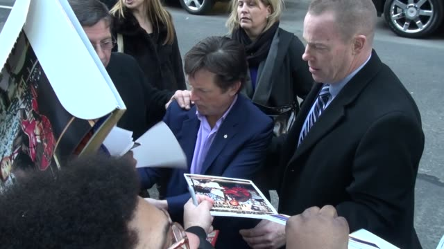 michael j fox at the 'late show with david letterman' studio in new york ny on 1/10/13 - michael j. fox stock videos and b-roll footage