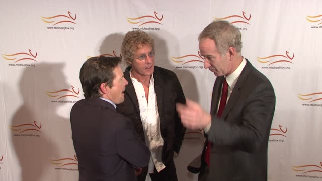 Michael J Fox John McEnroe and Roger Daltrey at the 'A Funny Thing Happened On The Way To Cure Parkinson's' Benefit at New York NY
