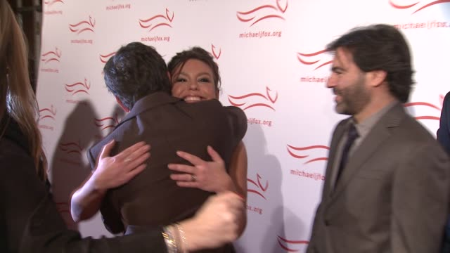 michael j fox rachel ray and john m cusimano at the 2011 a funny thing happened on the way to cure parkinson's red carpet at new york ny - michael j. fox stock videos and b-roll footage
