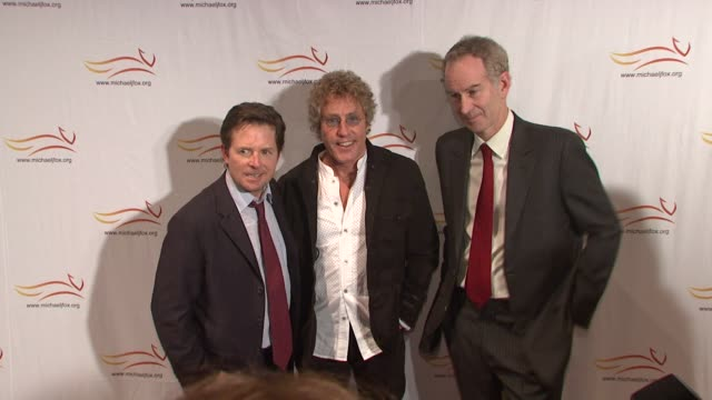 Michael J Fox Roger Daltrey and John McEnroe at the 'A Funny Thing Happened On The Way To Cure Parkinson's' Benefit at New York NY