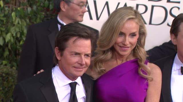 Michael J Fox Tracy Pollan Sam Fox at 70th Annual Golden Globe Awards Arrivals 1/13/2013 in Beverly Hills CA