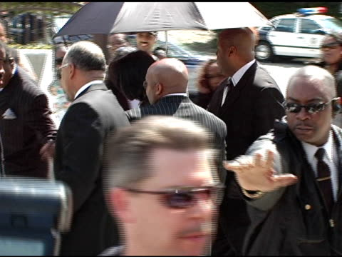 michael jackson at the funeral of johnnie l cochran, jr arrivals at west angeles cathedral in los angeles, california on april 6, 2005. - johnnie cochran stock videos & royalty-free footage