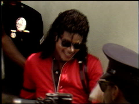 Michael Jackson at the Michael Jackson at Gardner Street School on October 11 1989