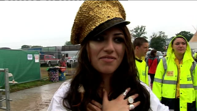 reaction at Glastonbury ENGLAND Somerset Glastonbury EXT Gabriella Cilmi interview SOT On performing at Glastonbury / the death of Michael Jackson