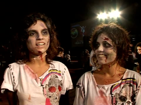 michael jackson fans around the world wore zombie costumes and struck scary poses in a bid to enter the guinness book of world records for the... - 2009 stock videos & royalty-free footage
