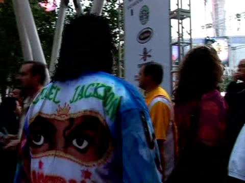 michael jackson fans were left blown away tuesday as powerful winds provided a fittingly turbulent backdrop to the tortured king of pop's concert... - michael jackson stock videos and b-roll footage