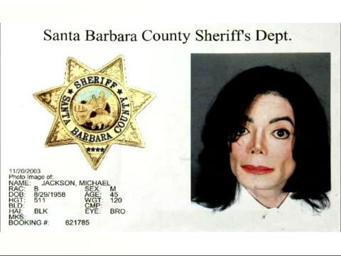 Michael Jackson freed on bail POOL via AGENCY Michael Jackson mugshot after arrest on child molestation charges STILL Michael Jackson face on mugshot