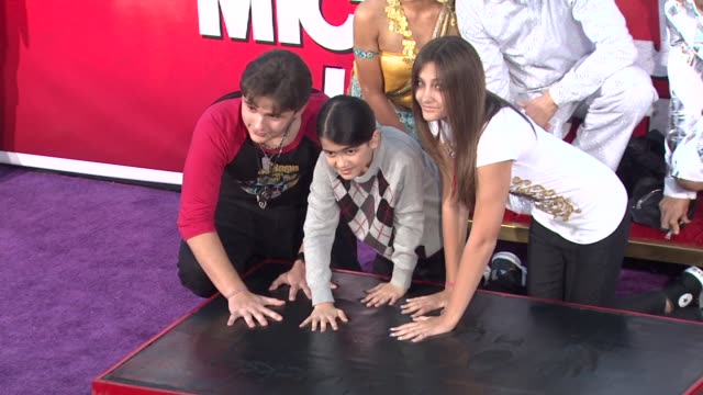 michael jackson immortalized with hand and footprint ceremony hollywood ca united states 1/26/12 - michael jackson stock videos and b-roll footage