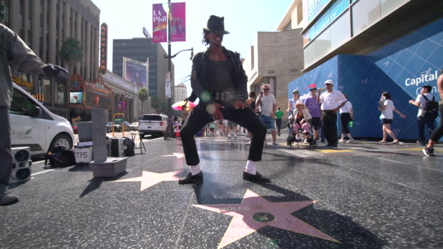 michael jackson tribute dancer - hollywood boulevard stock videos & royalty-free footage