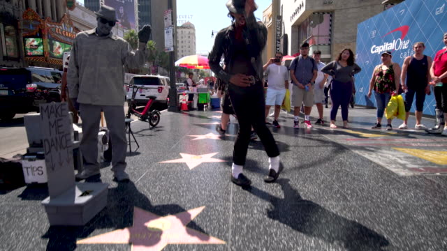 michael jackson tribute dancer - walk of fame stock videos and b-roll footage